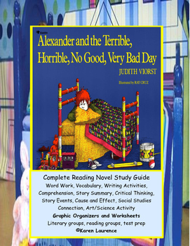 Alexander and the Terrible...Day! Complete ELA Reading Novel Study Guide