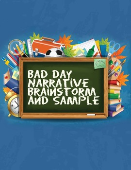Alexander and the Terrible Day Narrative Writing Plan and Sample