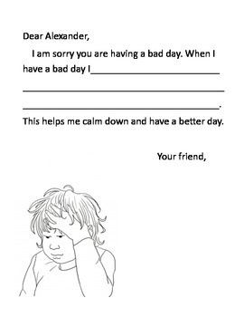 Alexander and the Terrible Day Worksheet