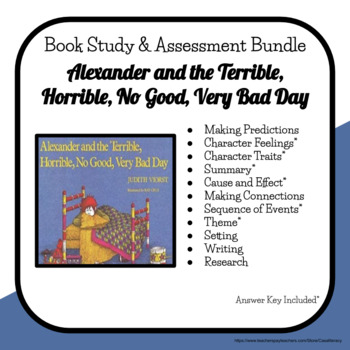 Alexander and the Terrible, Horrible... Comprehension Pack