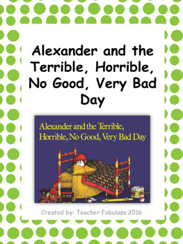Alexander and the Terrible, Horrible Comprehension Questions