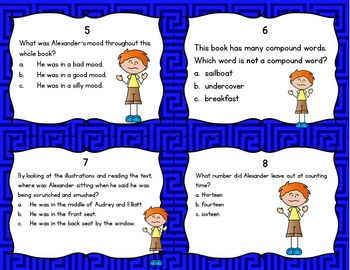 Alexander and the Terrible, Horrible, No Good, Very Bad Day Task Cards