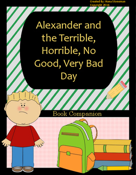 Alexander and the Terrible, Horrible, No Good, Very Bad Day-Book Companion