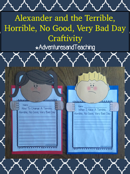 Alexander and the Terrible, Horrible, No Good, Very Bad Day Craftivity