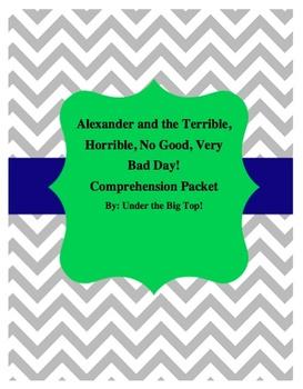 Alexander and the Terrible, Horrible, No Good, Very Bad Day ELA Study