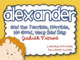 Alexander and the Terrible, Horrible, No Good, Very Bad Day Literacy Unit