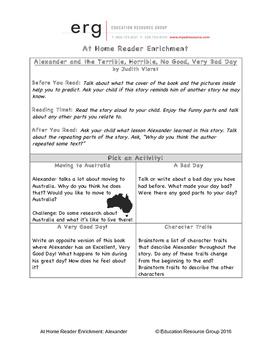 At Home Reader Enrichment-Alexander & the Terrible Horribl