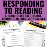 Alexander and the Terrible, Horrible, No Good, Very Bad Day - Reading Response