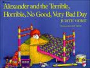 Alexander, and the Terrible...Day... Writing Pattern Frame