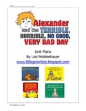 Alexander and the Terrible...Unit by Judith Viorst