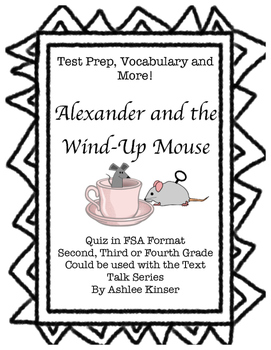 Alexander and the Wind-Up Mouse - Comprehension, Vocabular