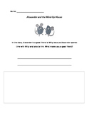Alexander and the Wind-Up Mouse Writing Activity
