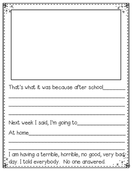 Alexander's Horrible Day! (a writing activity)