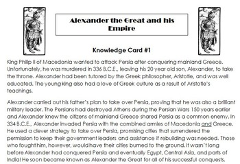 Alexander the Great: A Cloze Reading Cooperative Challenge