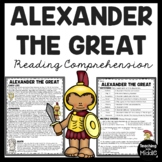 Alexander the Great Biography Reading Comprehension Worksheet Ancient Greece