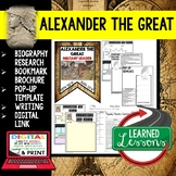 Alexander the Great Biography Research, Bookmark Brochure, Pop-Up Writing Google