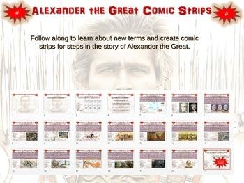 Alexander the Great Comic Strip Activity: an engaging, fun follow-along resource
