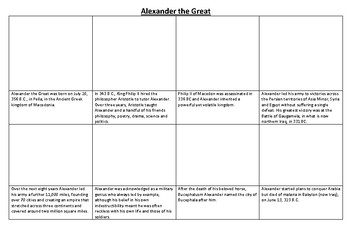 Alexander the Great Comic Strip and Storyboard