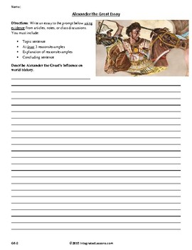 Alexander the Great Essay Grade 6-8