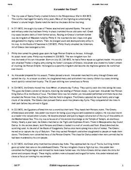 Alexander the Great - Grade 6