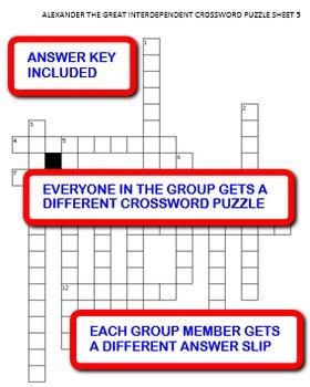 Alexander the Great: Interdependent Crossword Puzzles Activity