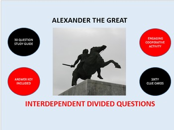 Alexander the Great: Interdependent Divided Questions Activity