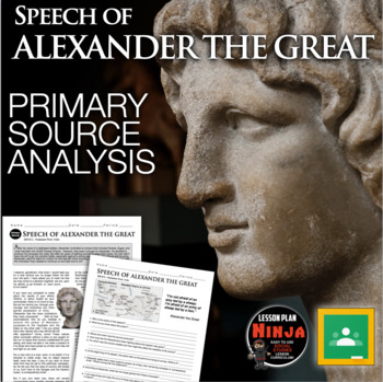 Alexander the Great Primary Source Worksheet (Greece)