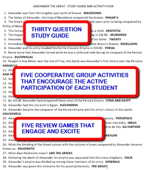 Alexander the Great: Study Guide and Activity Pack
