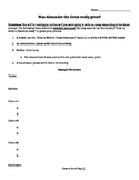 Alexander the Great: Was he Great outline / worksheet