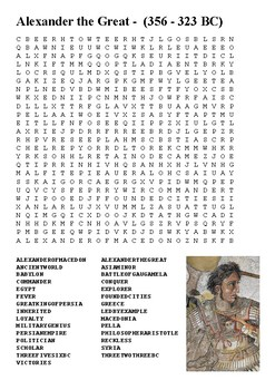 Alexander the Great Word Search