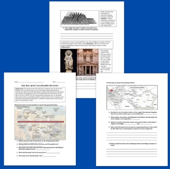 Alexander the Great Worksheet Packet