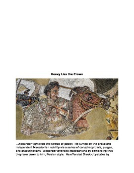 Alexander the Great and Persian Conquest Activity