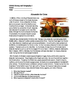 Alexander the Great handout