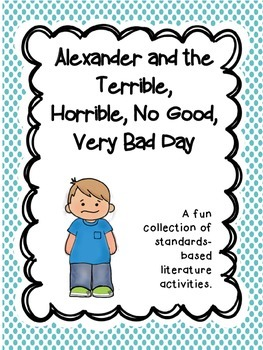 Alexander & the Horrible ~ comprehension & reading skills graphic organizers