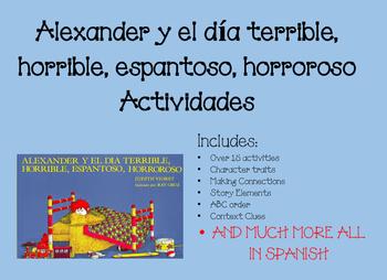 Alexander y el día Terrible, Horrible, Espantoso, Horroroso Actividades