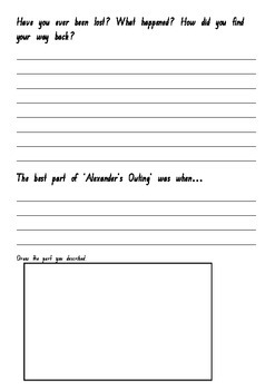 Alexander's Outing -Pamela Allen - Comprehension Worksheets