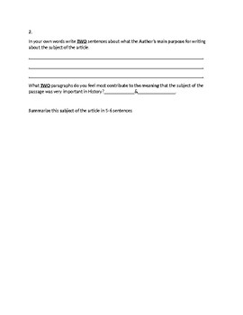 Alexus Comnensus Biography Article and Assignment Worksheet