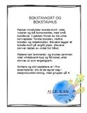 Alfabetkort og bokstavhus- hvor i ordet er lyden? Norwegian