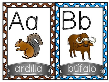 Alfabeto (Animales) / Spanish Alphabet (Animals)