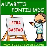 Alfabeto Pontilhado em Letra Bastão, Educação Infantil e Inclusiva, Autismo