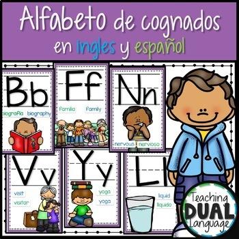 Alfabeto de cognados en ingles y español