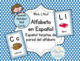 Spanish Alphabet Wall Cards BLUE