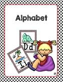 English Alphabet , Animals, Black and White