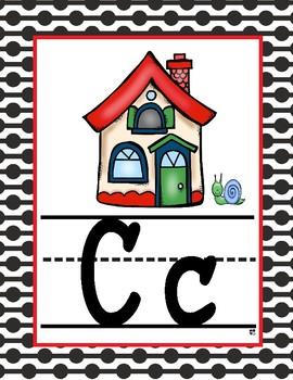 Alfabeto en español. Ladybug/blanco y negro,