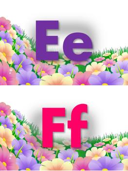 Alfabeto floral 2