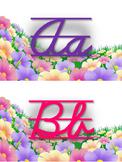 Alfabeto floral cursivo