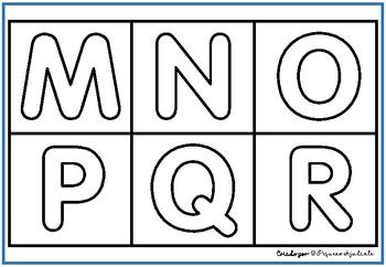 Alfabeto letras - maiúsculas e minúsculas