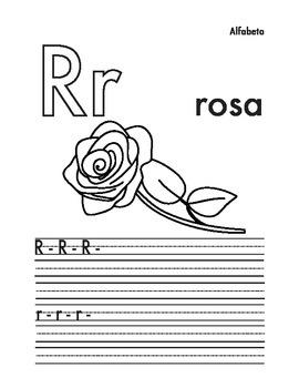 Alfabeto para colorear y escribir (Spanish alphabet worksheet)