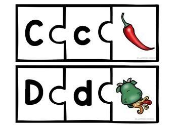Alfabetpuslespill - bokstavinnlæring