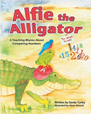 CCSS NBT: Alfie the Alligator:Teaching Rhyme About Comparing #'s EBook